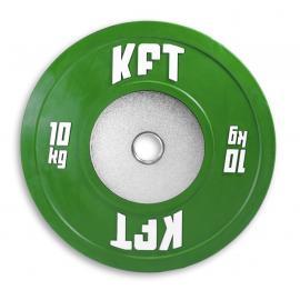 Bumper Plate Competición KFT Color  Peso-10 kg.