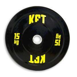 Bumper Plate KFT Negro Peso-15 kg