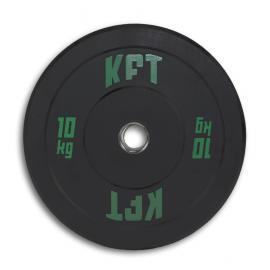 Bumper Plate KFT Negro  Peso-10 kg.