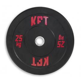 Bumper Plate KFT Negro  Peso-25 kg