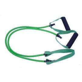 Tubo de resistencia con cinta central. 1,2 m. Color verde - Medio.