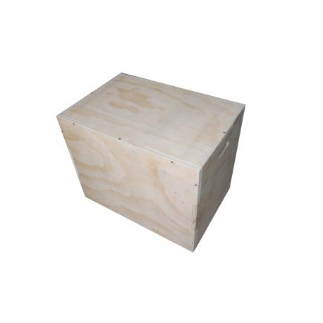 Cajón madera grande - Wood Plyobox . Madera Natural