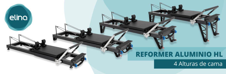 Reformer aluminio HL, 4 alturas de cama de Elina Pilates